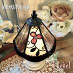 テーブルランプ 照明 おしゃれ Liesel・リーゼル LED対応 ロマンチック 置き型照明 ステンドグラス ランプ