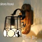 ブラケットライト 照明 おしゃれ Pucchi Blue・路地裏のプッチー ブルー LED対応 猫 壁付け照明