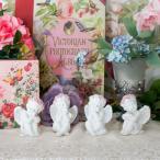 お座りスマイルエンジェルオブジェ 4種セット 天使 置物 オブジェ 薔薇とレースと天使のお店