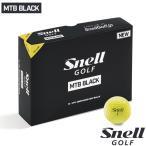 ゴルフボール スネルゴルフ SNELL GOLF 2019 NEW MTB BLACK イエロー 5ダース 60球