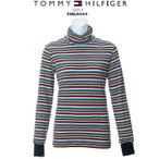 トミーヒルフィガー 2019 TOMMY HILFIGER THLA969 MULTI STRIPE TURTLE NECK SHIRTS タートルネ