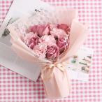 造花 花束 バラ 飾れる 花 ソープフラワー 母の日 ブーケ お母さん お祝い カーネーション 季節 メッセージカード付き 送別 ギフト プレゼント 贈り物