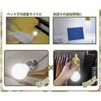 LEDライト 照明 電池式 小型 電球型 どこでもプルライト 迷彩柄 HRN-319 グレー