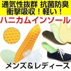 Yahoo!Well-Life Storeハニカムインソール 中敷き 衝撃吸収 抗菌 防臭 底の薄い靴 ウォーキング 立ち仕事 ゆうメール送料無料
