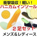 【ゾロ目セール】ハニカム インソール  2足セット 中敷き 衝撃吸収 底の薄い靴 ウォーキング 立ち仕事 送料無料