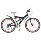 マイパラス TL-961-BK ランボルギーニ MTBマウンテンバイク26インチ Wサス18段変速自転車 ブラック