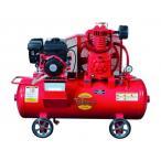 富士コンプレッサー 2.2kW 空冷二段圧縮エンジン搭載形コンプレッサ(単胴形) SW-33ESB 【メーカー直送品】【代金引換不可】
