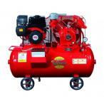 富士コンプレッサー 5.5kW 空冷二段圧縮エンジン搭載形コンプレッサ(単胴形) SW-55ESB 【メーカー直送品】【代金引換不可】