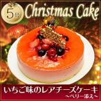 人気のクリスマスケーキ いちご味のレアチーズケーキ〜ベリー添え〜