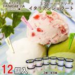 ショッピングアイスクリーム お歳暮 御歳暮 ギフト アイスクリーム ギフトセット KAMANARIYA イタリアンジェラート 12個詰め合わせ お誕生日祝い 出産内祝い 送料無料 プレゼント