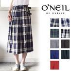 O'NEIL OF DUBLIN オニールオブダブリン)LOW WAIST PLEATS WRAP SKIRT WITH PINリネンプリーツラップ巻きスカート