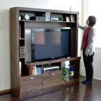55型対応 ゲート型 テレビ台 ハイタイプ 壁面家具 リビング壁面収納 55インチ対応 TV台 AVボード 165cm幅 ブラウン 壁面収納 ブルーレイ DVD デッキ収納