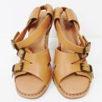 ショッピングクロエ ストラップ クロエ Chloe シーバイ レザー サンダル ストラップ ベージュ 36 1 2 レディース 靴 小物 【中古】【あすつく】