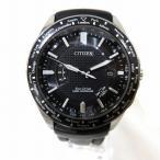 シチズン エコドライブ 黒文字盤 H145-S073553 時計 腕時計 メンズ 【中古】