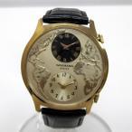 時計 WAKMANN SWISS デュアル.タイム 手巻き メンズ時計 【中古】【あすつく】