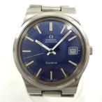 時計 オメガ ジュネーブ 自動巻き ブルー文字盤 メンズ 【中古】【あすつく】