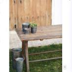 ガーデン テーブル 長方形 ガーデンテーブル 屋外 アンティーク 古木 ガーデンファニチャー おしゃれ  天然木 木製テーブル アイアン レトロ カフェ