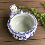 猫 水鉢 睡蓮鉢 メダカ鉢 金魚鉢 猫雑貨 ねこ小物