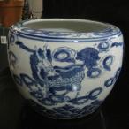 麒麟 キリン ミニ火鉢 めだか アンティーク 水鉢 陶器
