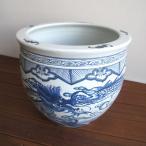 ウルトラセール 景徳鎮の龍のデザインがおしゃれな火鉢。 水鉢 鉢カバー メダカ鉢 水連鉢