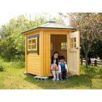 キッズガゼボ(塗装品)子供部屋 組立てかんたん、ログハウス風でちょっと大きな工作気分、みんなで楽しく組み立てましょう