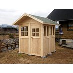 ミニハウス2(塗装なし) ログハウス風 かんたん組立て 全面断熱材入り 快適環境で趣味の工房、お子様の勉強部屋に