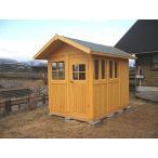 ミニハウス3(塗装品) ログハウス風 かんたん組立て 全面断熱材入り 快適環境で工房やお子様の勉強部屋に