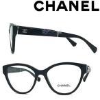 CHANEL メガネフレーム ブランド シャネル レディース ブラック 眼鏡 0CH-3391-C501