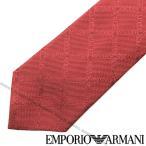 EMPORIO ARMANI エンポリオアルマーニ ロゴ柄シルクネクタイ レッド 340049-615-05573