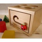 プレイミー PlayMeToys レディバグボックス 木のおもちゃ 知育玩具 出産祝い 誕生日 つみき 積み木 赤ちゃん ベビー 型はめ 0歳 1歳 2歳