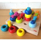 ハバ HABA カラーリングのペグ遊び 木のおもちゃ 木製 知育玩具 出産祝い つみき 積み木 haba ハバ 0歳 1歳 2歳 3歳