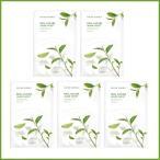 [NATURE REPUBLIC]ネイチャーリパブリック リアルネイチャー マスクシート グリーンティー 5枚 Real Nature Mask Sheet GreenTea 5 sheets