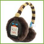 耳あて ロボット ジャガード 子供 男の子 イヤーマフ イヤーウォーマー 防寒 ボア Flybot キャラクター フリーサイズ ブラウン