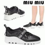 ミュウミュウ miumiu スニーカー 5E313C 靴 シューズ レディース 36 新品 送料無料 デート プレゼント