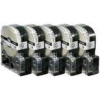 (業務用5セット) キングジム テプラ PROテープ/ラベルライター用テープ 〔幅:12mm〕 5個入り ロングタイプ SS12KL-5 ホワイト(白)