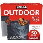 【送料無料】KIRKLAND カークランド ゴミ袋 189L x 70枚 黒  掃除 大容量 コストコ Costco
