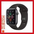 Apple Watch Series 5 (GPSモデル) - 44mm スペースグレイアルミニウムケースとブラックスポーツバンド - S/M & M/L