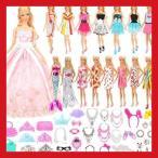 リカちゃん 着せ替え 服 バービー服 バービードレス バービー人形用服 55枚セット=15枚ドレス+40個アクセサリー プリセンスドレス 子供の日