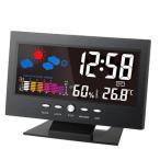 デジタル温度湿度計 LCD温度湿度計 カラーディスプレイ レトロ インテリア