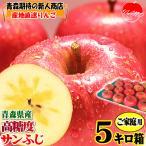 りんご ふじ 5kg箱 訳あり クール便対応 青森 リンゴ 5キロ箱 常温便送料無料 大小様々