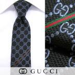 グッチ GUCCI メンズ ネクタイ 0612 ネイビー/GGパターン/ジャガード織り/シルク/1617aw