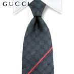 10月15日 再入荷/グッチ GUCCI メンズ ネクタイ 652201100 チャコール/GGパターン/ジャガード織り/シルク/18定番モデル