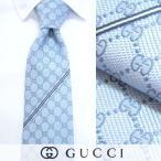 グッチ GUCCI/メンズ ネクタイ/652204700 ライトブルー系/GGパターン/ジャガード織り/シルク