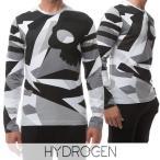 ハイドロゲン/HYDROGEN メンズ 長袖Tシャツ 200611 グレー系カモフラ/282/ロンT/カットソー/クルーネック/男女兼用/ユニセックス/17ss