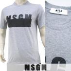エムエスジーエム/MSGM メンズ Tシャツ 2240 MM87 174296 霜降りグレー/96/17ss