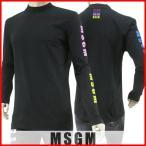 2月17日 新入荷/エムエスジーエム MSGM メンズ Tシャツ 2440MM103 184299 ブラック/99/長袖/18ss