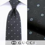 グッチ GUCCI メンズ ネクタイ 441901169 チャコール/フラワー/ジャガード織り/シルク