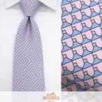 エルメス HERMES メンズ ネクタイ 645902T ピンク/ブルー/26/セール