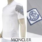 ショッピングmoncler モンクレール MONCLER  メンズ Tシャツ GAMME BLUE 8010750 829D1 ホワイト/002/ガムブルー/半袖/18ss