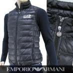 エンポリオアルマーニ エアセッテ/EMPORIO ARMANI EA7 メンズ ライトダウンベスト 8NPQ01 PN29Z ブラック/1200/16-17aw